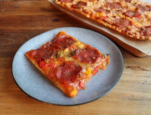 Surdeigspizza med spelt