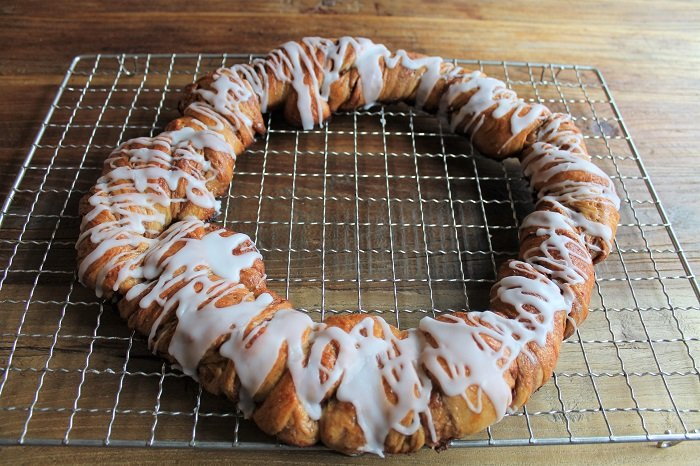 Kanelkringle med surdeig